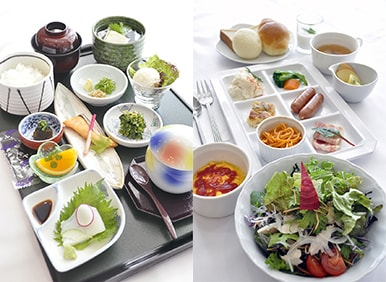 朝食写真(和食、洋食からお選びいただけます)